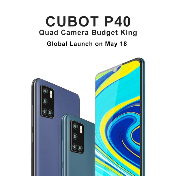 Photo of Cubot P40 Smartphone with Quad Cameras Set to Launch on May 18